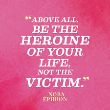 woman hero quote in pink