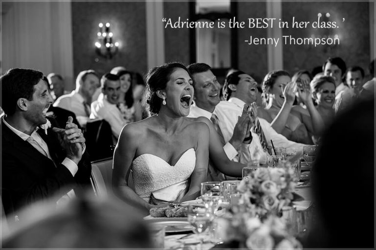 best wedding moment bride laughing