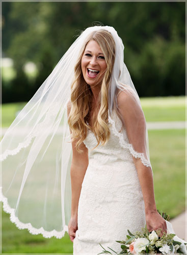 happy smiling bride