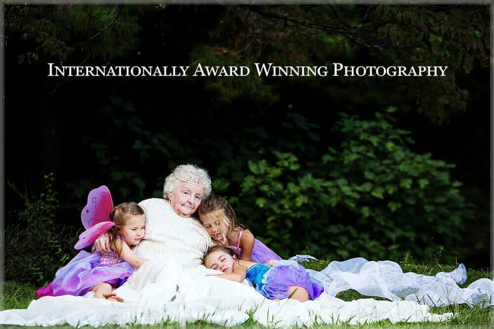 fine art portrait grandmother and grandchildren
