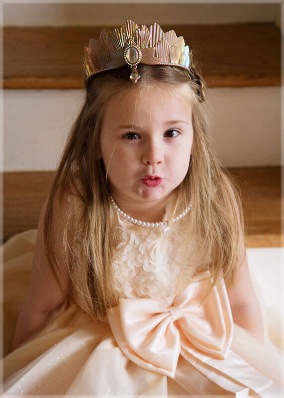 cute girl princess dress crown