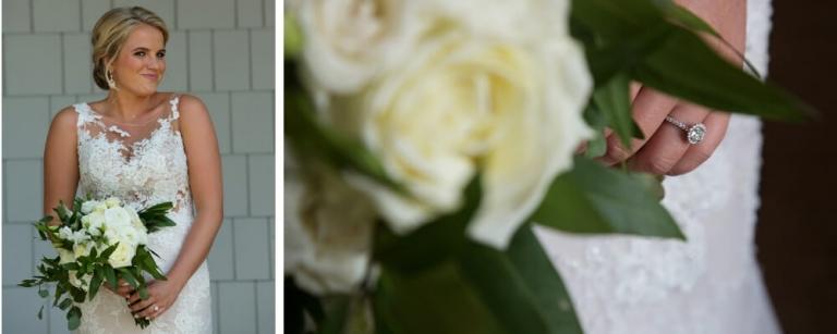 wedding flowers bride portrait