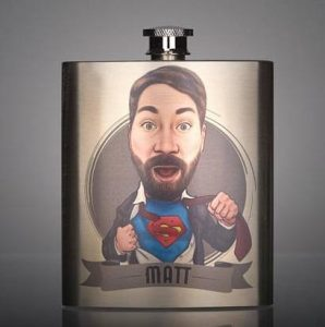 superhero customized flask