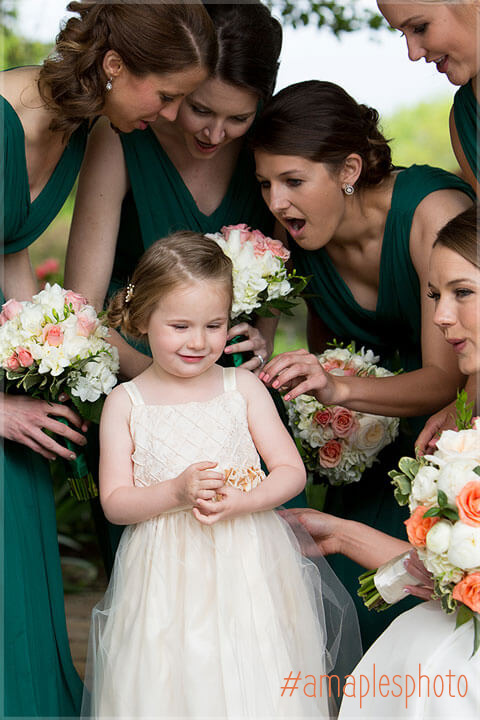 best wedding moments flowergirl and bridesmaids
